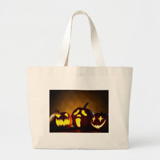 Kürbis-Kopf-Tasche Halloweens drei Jumbo Stoffbeutel