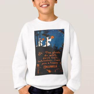 Kürbis-Kürbislaterne-Geist-schwarze Katze Sweatshirt