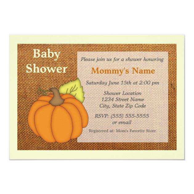 kürbis-leinwand-babyparty-einladung 12,7 x 17,8 cm einladungskarte, Kreative einladungen