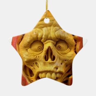 Kürbis-Mann Keramik Ornament