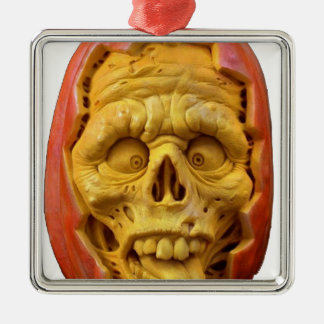 Kürbis-Mann Silbernes Ornament