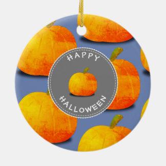 Kürbis-Muster Halloween Keramik Ornament
