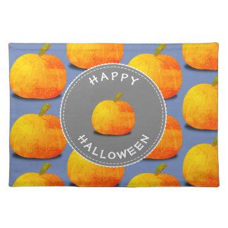 Kürbis-Muster Halloween Stofftischset