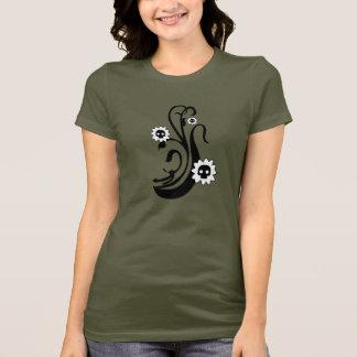 Kürbis-Schädel-Blüte T-Shirt