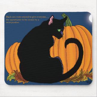 Kürbis-schwarze Katze Mousepad