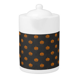 Kürbis-Tafel-Muster Halloweens orange