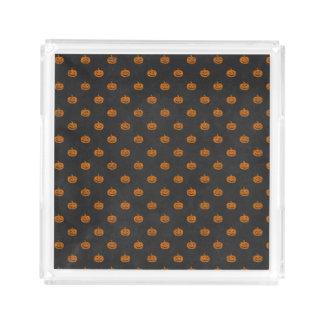 Kürbis-Tafel-Muster Halloweens orange Acryl Tablett