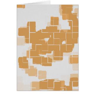 """""""Kürbis-Torten-"""" geometrisches abstraktes Karte"""