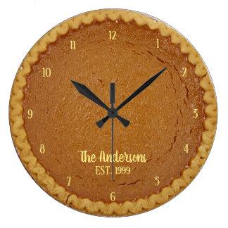 Kürbis-Torten-Torten-Uhr-personalisierte Uhr