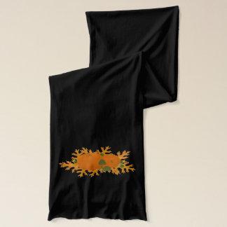 Kürbis-und Eichen-Blätter-Herbst-Schal Schal