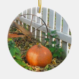 Kürbis und Pflug Keramik Ornament