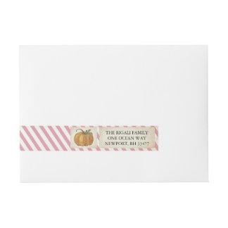 Kürbis-Verpackung um Aufkleber - rosa Streifen