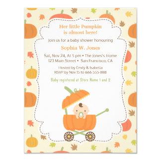 Kürbis Wagen Spaziergänger Babyparty Einladungen 10,8 X 14 Cm  Einladungskarte