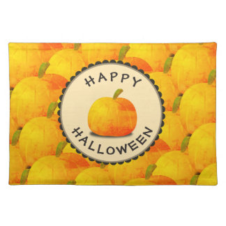 Kürbise glückliches Halloween Stofftischset