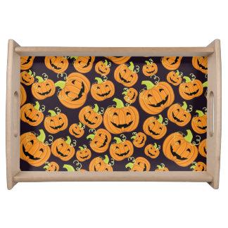 Kürbise kopieren für Halloween Serviertablett
