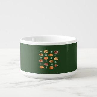 Kürbise mit Blätter-Chili-Schüssel Kleine Suppentasse
