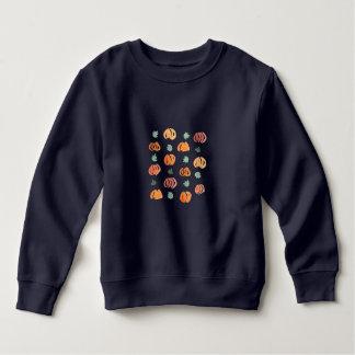 Kürbise mit Blätter-Kleinkind-Sweatshirt Sweatshirt