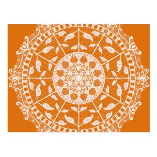 Kürbiskuchen-Mandala Postkarte