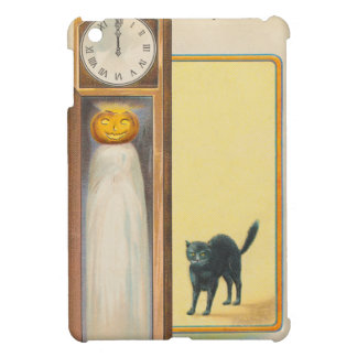 Kürbislaterne-Geist-schwarze Katzen-großväterliche iPad Mini Schale