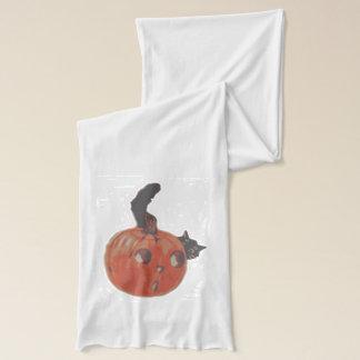 Kürbislaterne-Kürbis-schwarze Katze Schal