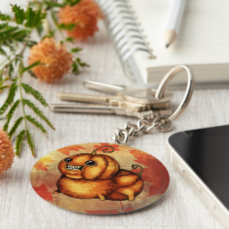 Kürbismonsterherbstfall Halloween-Schlüsselkette Schlüsselanhänger