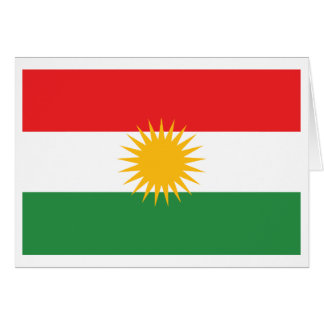 Kurdistan-Flagge Karte