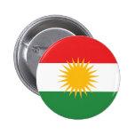 Kurdistan-Flagge Runder Button 5,7 Cm