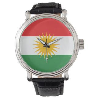 Kurdistan-Flagge Uhr