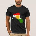 Kurdistan-Flaggen-Karte Größengleich T-Shirt