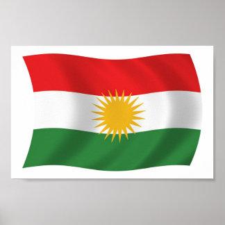 Kurdistan-Flaggen-Plakat-Druck