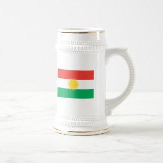 Kurdistan-Flaggen-Tasse Bierkrug