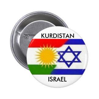 KURDISTAN-ISRAEL-UNTERSEITE RUNDER BUTTON 5,7 CM