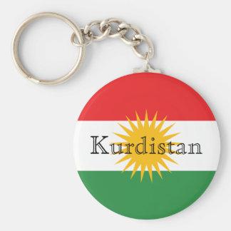 Kurdistan Standard Runder Schlüsselanhänger