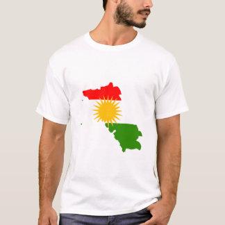 Kurdistanflaggenkarte T-Shirt