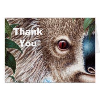 Kuriositäts-Koala danken Ihnen Anmerkungs-Karte Karte