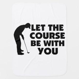 Kurs ist mit Ihnen Golf spielend Babydecke