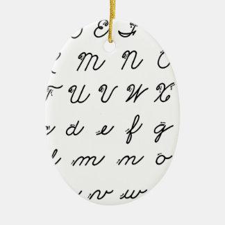 Kursivhandschriftsdiagramm Keramik Ornament