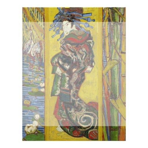Kurtisane nach Eisen durch Vincent van Gogh Flyer Druck