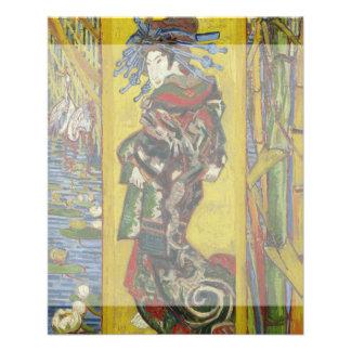 Kurtisane nach Eisen durch Vincent van Gogh Flyerbedruckung