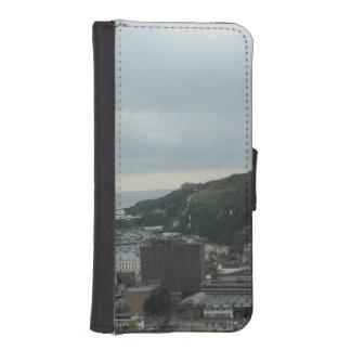 Kurven des Ufers von Dover und von englischem I Phone 5 Portmonee