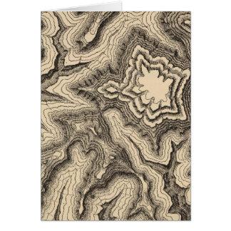 Kurven, Spitzen der Wände projektierend Karte