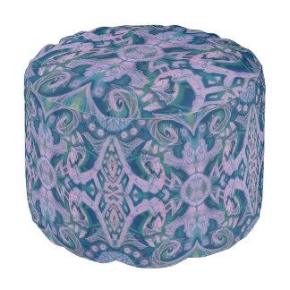 Kurven u. Lotos, abstraktes Blumen-, Lavendel u. Hocker