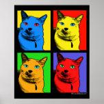 Kurzhaarige Katzen-Pop-Kunst durch Antrag