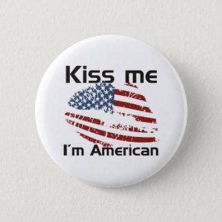 Kuss-Amerikaner Runder Button 5,7 Cm