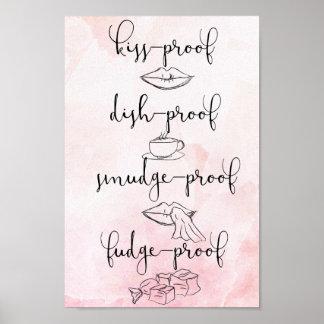 Kuss-Beweis-Fudge-Beweis Poster