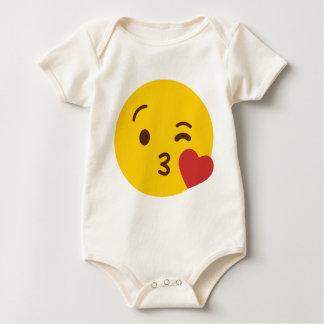 Kuss Emoji Baby Strampler