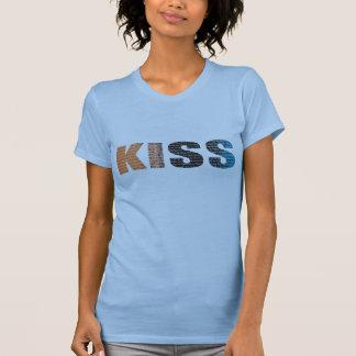 Kuss-Liebe-Buchstabe-Shirt T-Shirt