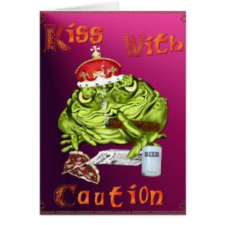 Kuss mit Vorsicht-Karte Karte