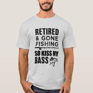 Kuss so zu fischen, zurückgezogen und gegangen T-Shirt