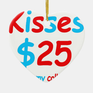 Küsse, die meine Unikapital beginnen Keramik Herz-Ornament